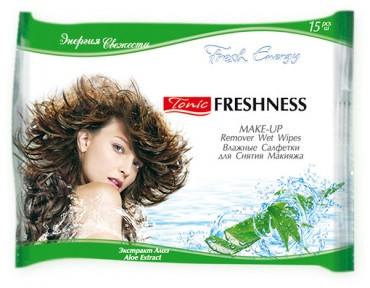 Влажные салфетки для снятия макияжа 15 шт