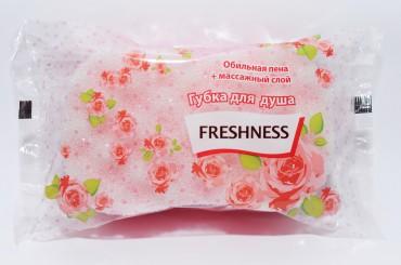 Губка банная розовая