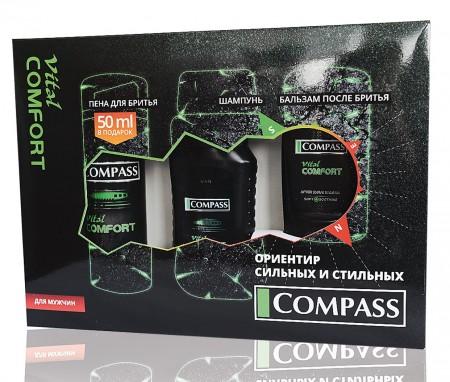 Набор подарочный Vital Comfort (пена для бритья+шампунь + бальзам после бритья)