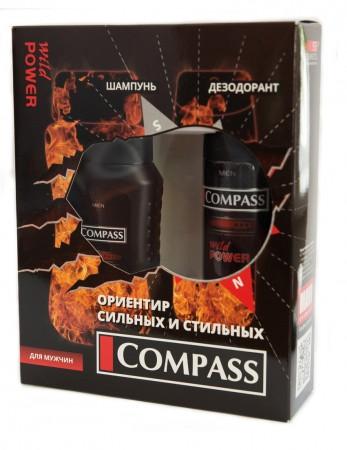 Compass NC013 набор Wild power (дезодорант 150 мл + шампунь 250 мл)