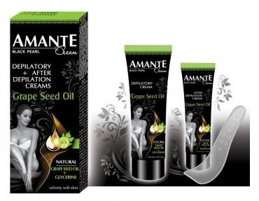 Amante набор (крем для депиляции 75 мл + крем после депиляции 25 мл) - с маслом виноградных косточек