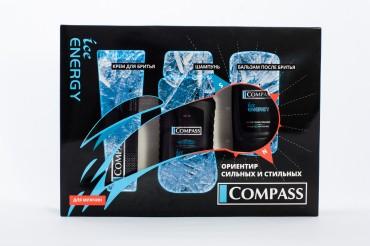 Набор подарочный Ice Energy (крем до бритья+ шампунь+бальзам после бритья)