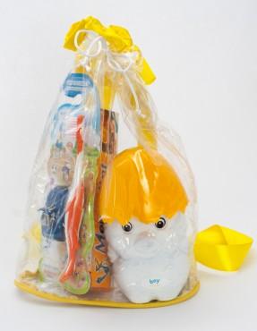 """Подарочный набор """"Цыплёнок"""" (шампунь + зубная паста + зубная щётка) машинка в ПОДАРОК!"""
