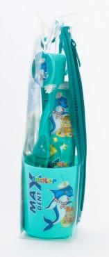 Max Dent Junior детский подарочный комплект в пенале (зубная паста 35мл + зубная щетка с колпачком и стаканчиком)