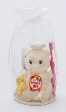 """Подарочный набор """"Медвежёнок"""" (шампунь + зубная паста + зубная щётка) резинка для волос в ПОДАРОК!"""
