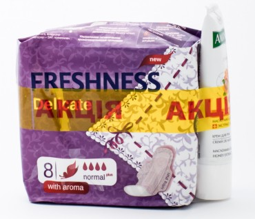 Прокладки Freshness Delicate-soft 8 Normal + Amante крем 25 мл