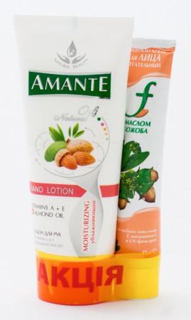 Лосьон для рук Amante 100 мл + крем для лица F 45 мл