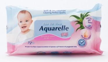 Детские влажние салфетки для лица и тела с экстратом алое 72 шт (