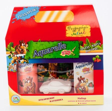 Подарочный набор Strawberry (шампунь + зубная паста) паззл+гипсовая фигурка в ПОДАРОК!