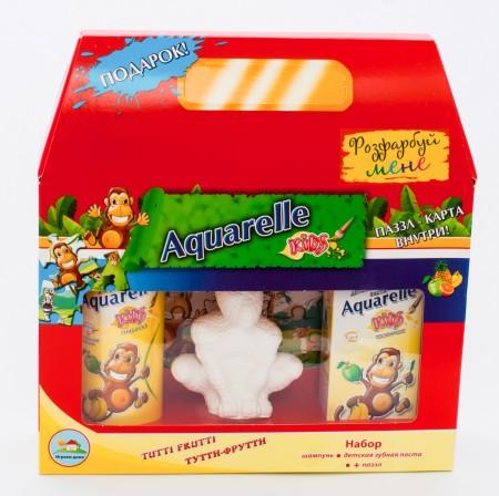 Подарочный набор Tutti-Frutti (шампунь + зубная паста) паззл+гипсовая фигурка в ПОДАРОК!